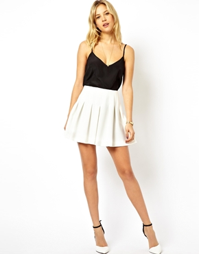 ASOS | ASOS Mini Skirt with Structured Pleats at ASOS