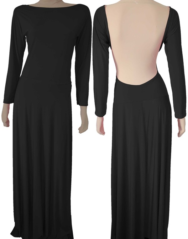 dress sexy backless maxi backless dress black prom dress black maxi dress low back dress open back dresses long sleeve dress long black dress evening dress evening dress formal dress formal black dress formal party dress prom dress