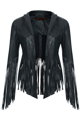 **Fringed Leather Jacket by Kate Moss for Topshop - Biker Jackets - Jackets & Coats - Clothing- Topshop