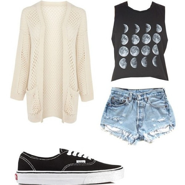 sweater warm white sweater comfy moon phases moon shorts vans black vans shirt shoes cardigan