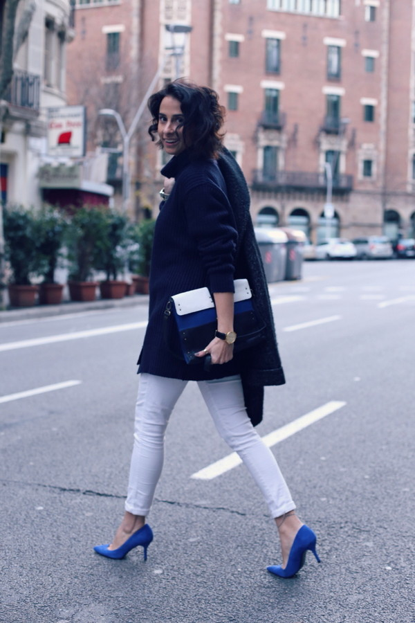 style in lima coat sweater bag jewels jeans shoes