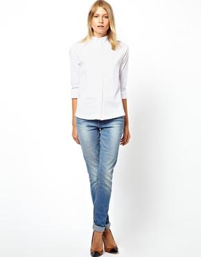 ASOS | ASOS Shirt With Wing Tip Collar And Pintuck Bib at ASOS
