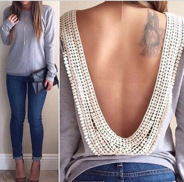 blouse gris