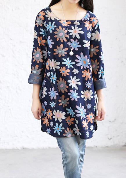 dress denim dress patterned dress