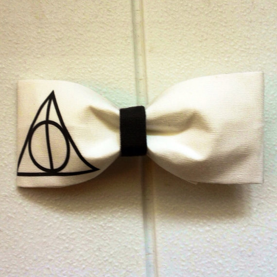 DEATHLY HALLOWS Harry Potter BOW by tessaROXX on Etsy