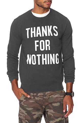 Thanks For Nothing Sweatshirt   FOREVER 21 - 2002246295