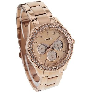 Fossil Women's ES3003 Stainless Steel Analog Pink Dial Watch: Watches: Amazon.com