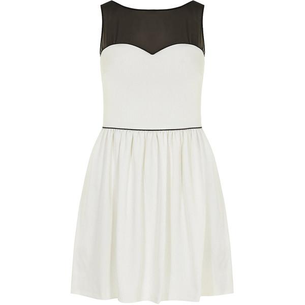 Kardashian Kollection white and black prom dress - Dorothy P... - Polyvore