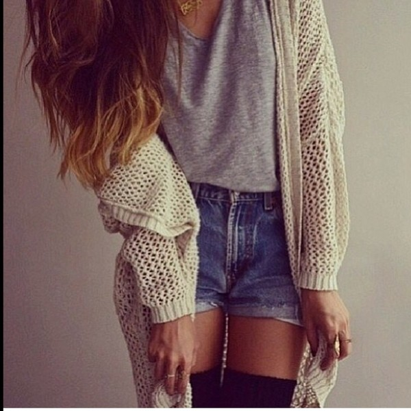 shorts shorts tank cardigan sweater shirt