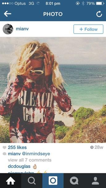 sunglasses menswear designer sweater tie dye