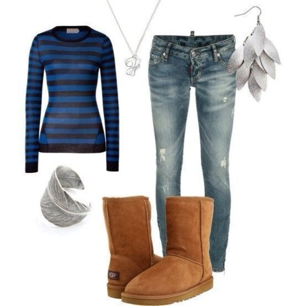jeans shoes shirt jewels