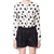 White Long Sleeve Polka Dot Pockets Chiffon Blouse - Sheinside.com