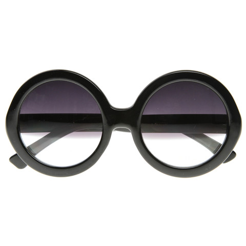 Designer Inspired Round Circle Half Tinted Lens Sunglasses 8511                             zeroUV
