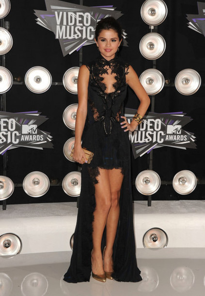 dress black dress selena gomez vma