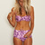 Tukie Flower High Waist Bikini