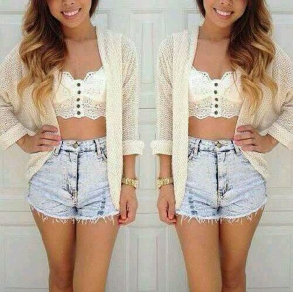 blouse tank top shoes shorts jacket