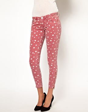 Hilfiger Denim | Hilfiger Denim Star Print Colour Ankle Skinny Jeans at ASOS