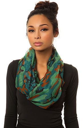 MKL Accessories Scarf Abstract Camo -  Karmaloop.com
