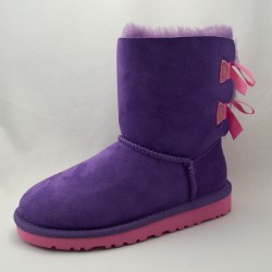 UGG Kids Bailey Bow Purple/Pink | Girls UGGS | Kids UGG Bows  - Shoedipity.com