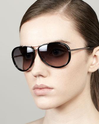 Ray-Ban Original Aviator Sunglasses, Golden/Green - Bergdorf Goodman