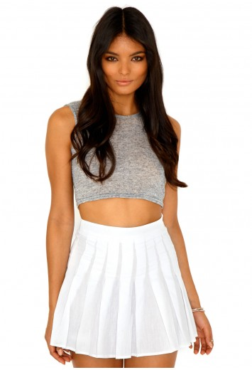 Crisanna Pleated Skater Skirt - skirt - missguided