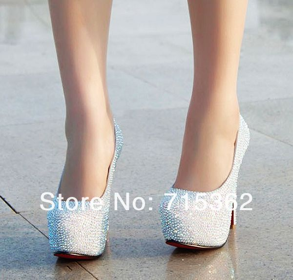 Free shipping hot sell 11cm high heel women pumps shoes with rhinestone-in Pumps from Shoes on Aliexpress.com