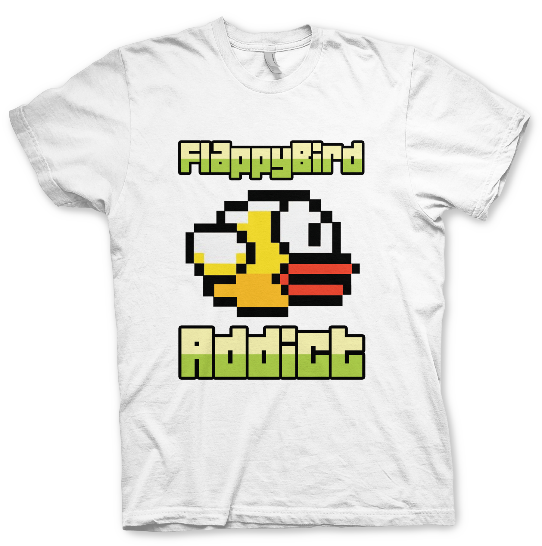 Words 2 Live By T-Shirts - Flappy Bird Addict - Words 2 Live By T-Shirts