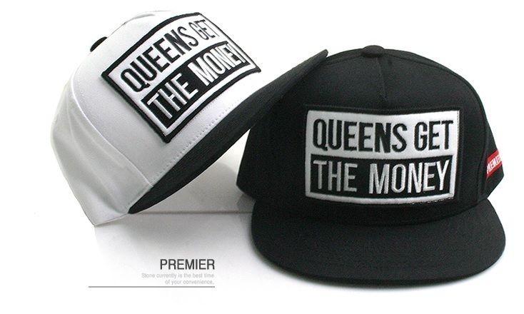 Unisex Snapback Hat Queens Get The Money Logo Baseball Cap Hiphop Fashion | eBay