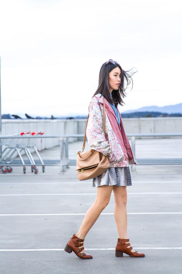 k is for kani jacket shirt skirt shoes sunglasses bag dress