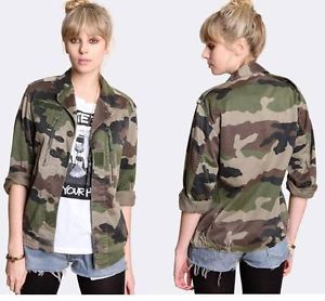 ✪ Vintage Women's French F2 Camo Jacket Coat Surplus Army Military Retro Urban ✪ | eBay