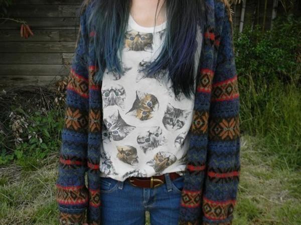 shirt cat shirt cats cats cat print shirt sweater