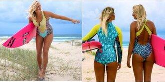 swimwear billabong surf bright zip