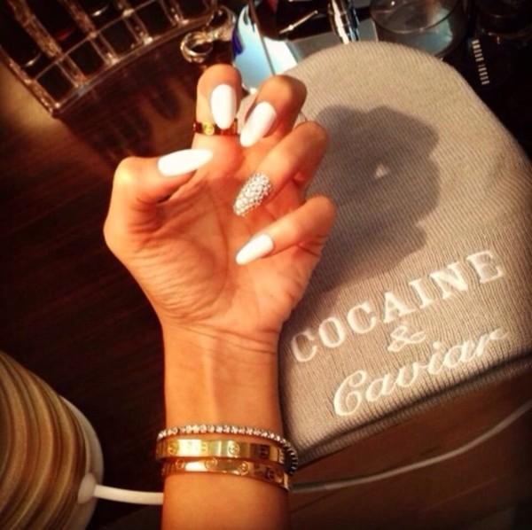 hat grey beanie cocaine & caviar