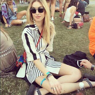 dress sandals sunglasses coachella festival music festival whitney port blogger