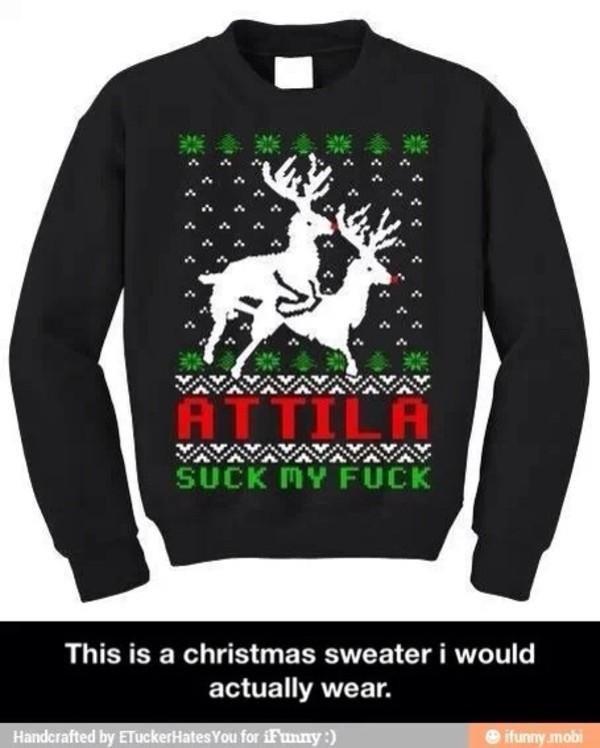 jacket attila band sweater christmas sweater