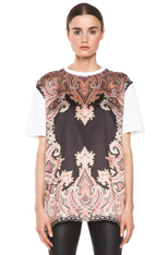 GIVENCHY|Block Print Paisley Tee in Multi