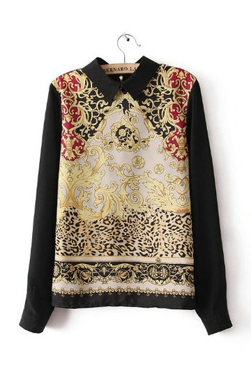 Retro Ethnic Style Totem Pattern Shirt [FDBI0029]- US$38.69 - PersunMall.com