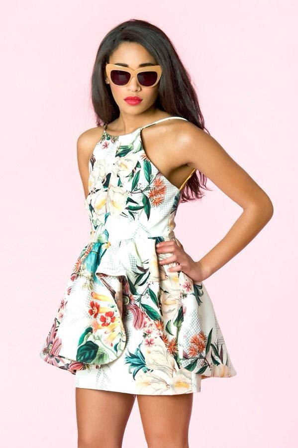 Cameo Winter Wind Botanical Print Cocktail Dress XS RRP$220 | eBay