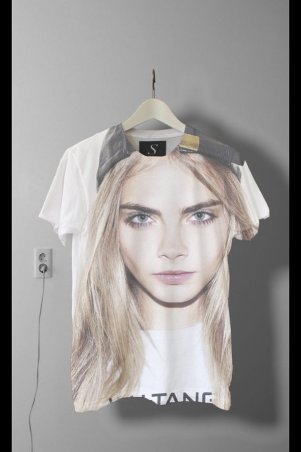 t-shirt cara delevingne cara delevingne