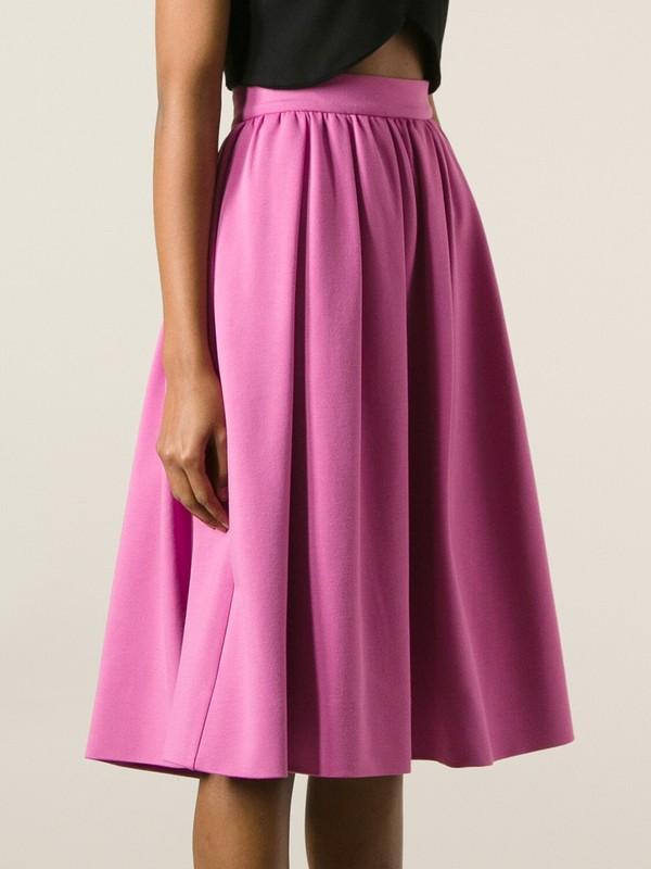 skirt dsquared2 pink skirt pleated a-line skirt