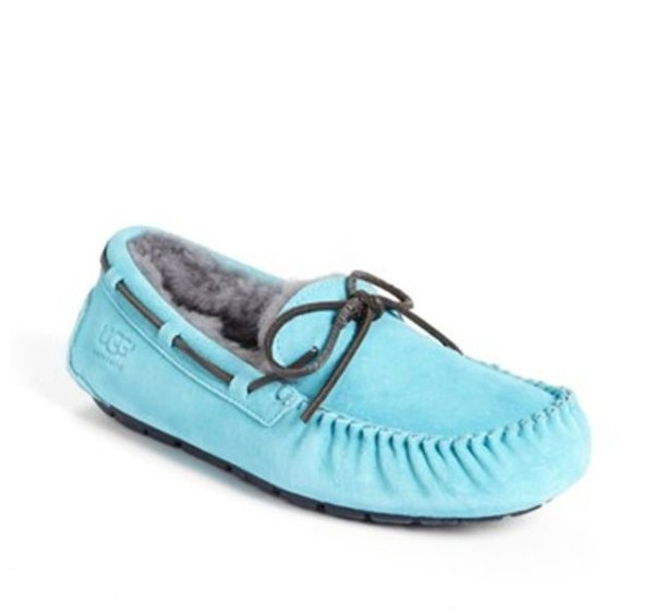shoes blue grey ugg boots moccasins house shoes slippers
