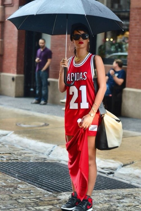 dress adidas rihanna red dress basketball dress 21 shoes