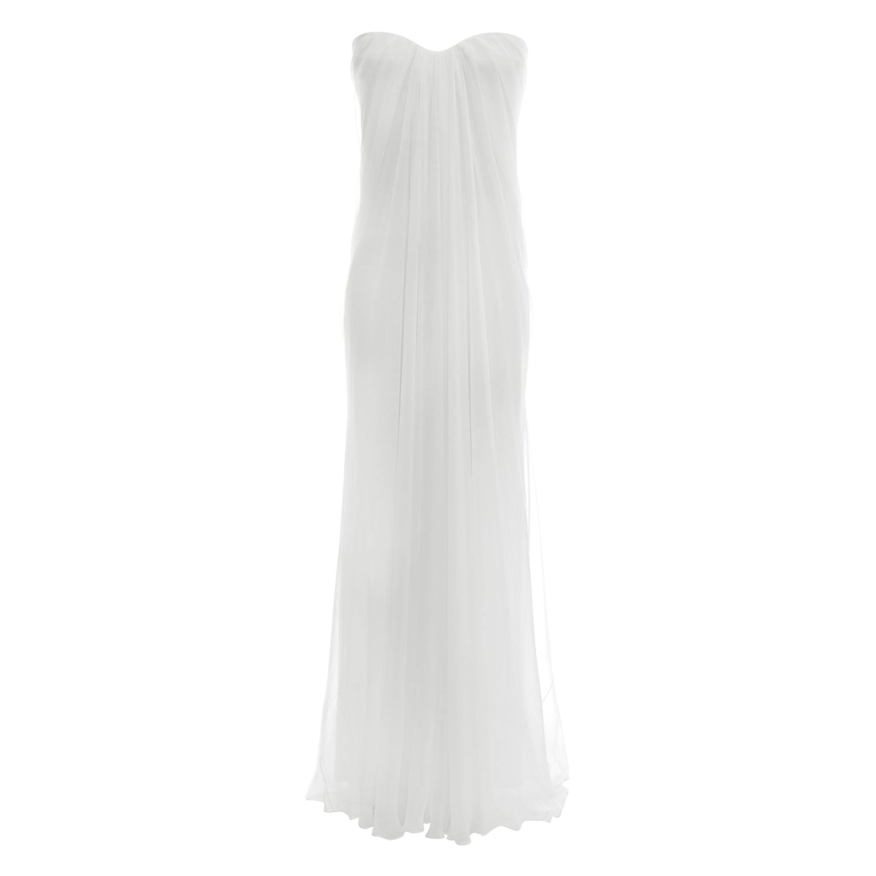 Robe Bustier Du Soir Drapée Alexander McQueen | Robe Longue | Robes |