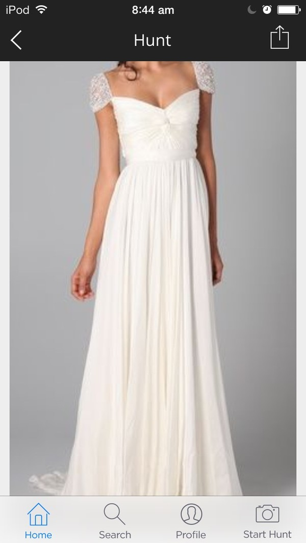 dress white long shouldered pretty prom dress homecoming