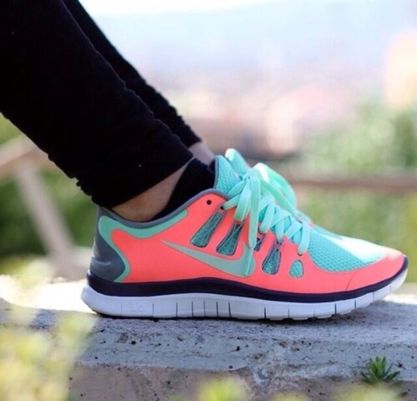 shoes run coral mint coral shoes mint shoes nike running shoes