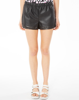 Fashion, Perforated PU Shorts, Buy Online