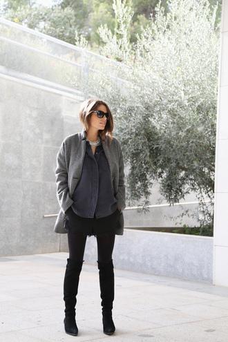 seams for a desire blogger shirt grey coat coat cardigan shorts shoes t-shirt jewels bag