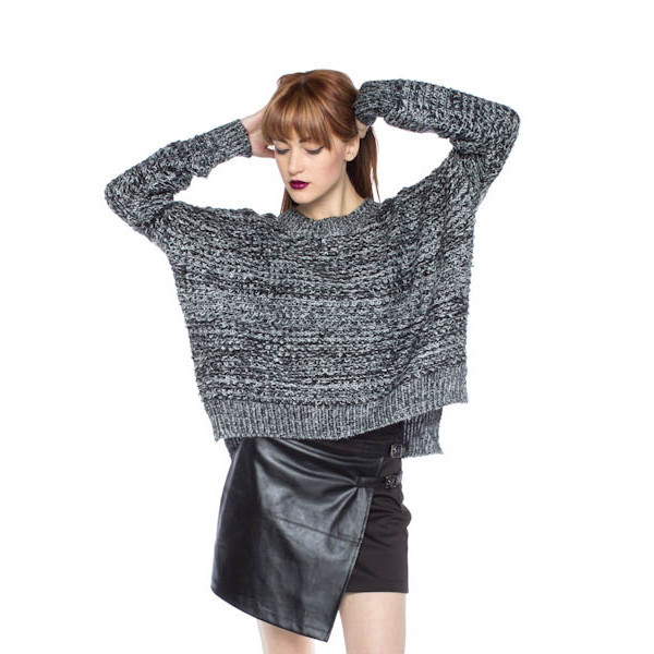 sweater dark tone fall outfits winter outfits fashion makeup table vanity row dress to kill grey grey