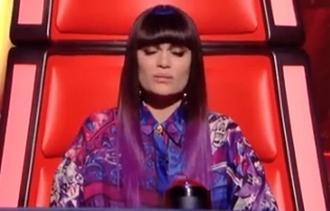 blouse purple blue white the voice jessie j