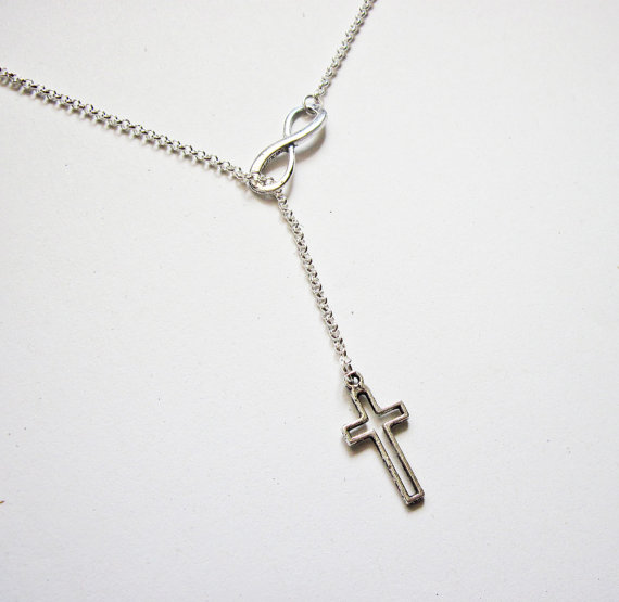 Infinity Necklace Cross and Infinity Necklace Y by RobertaValle